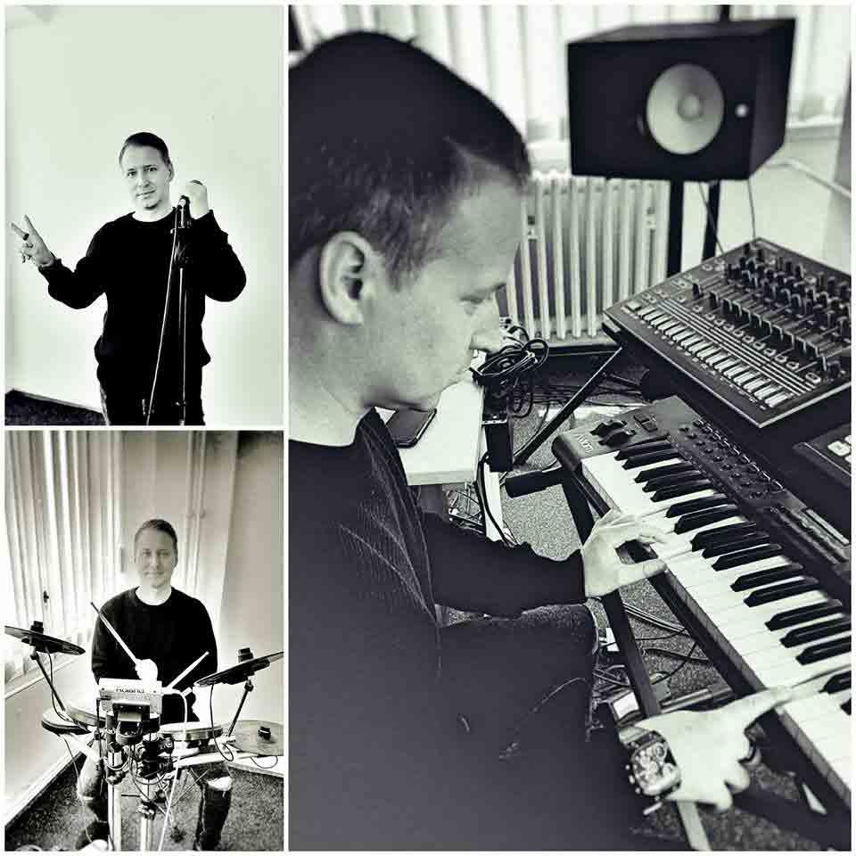Marko alias Six Faces im Studio